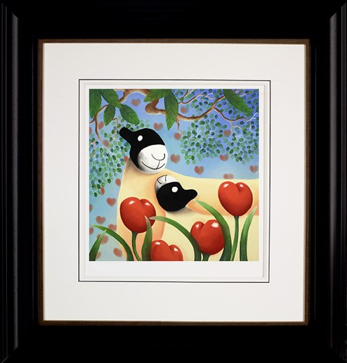 I Love you too by Mackenzie Thorpe - Framed Limited Edition on Paper